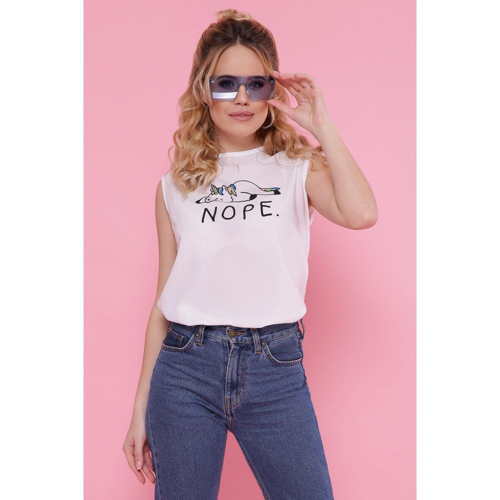 Молодежная футболка без рукавов с принтом NOPE фото 1