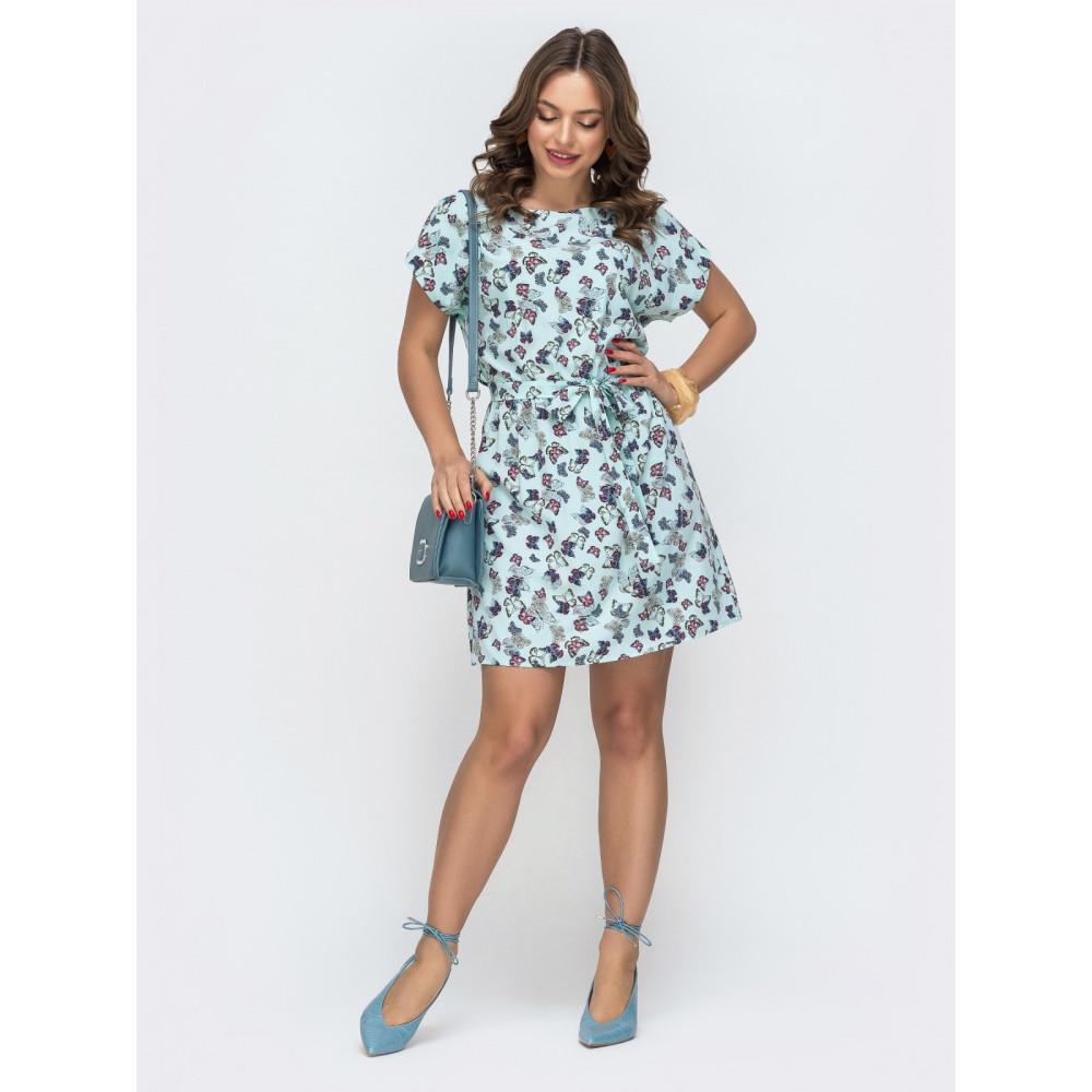 Нежное летнее принтованное платье Поля фото 1