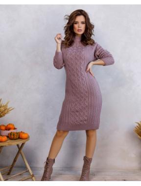 Розовое платье с женственными узорами Милли