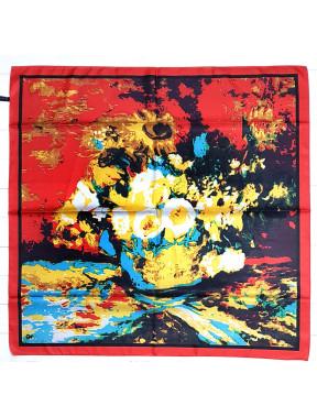"""Шелковый платок-картина """"Подсолнухи"""""""