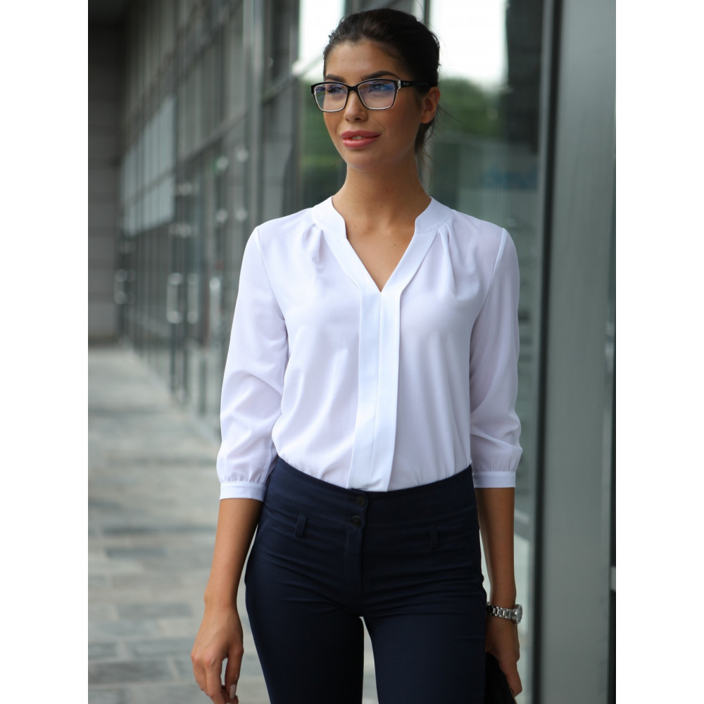 Блузка с V-образным вырезом фото 2