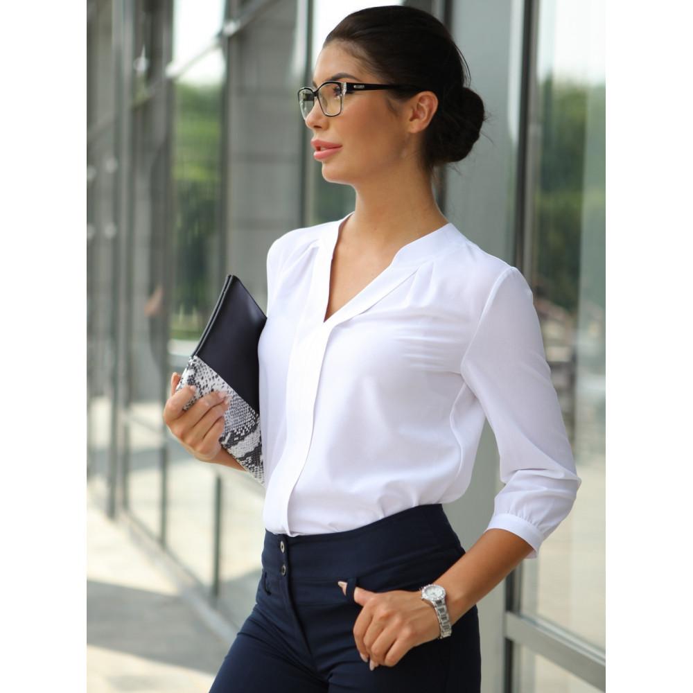 Блузка с V-образным вырезом фото 3