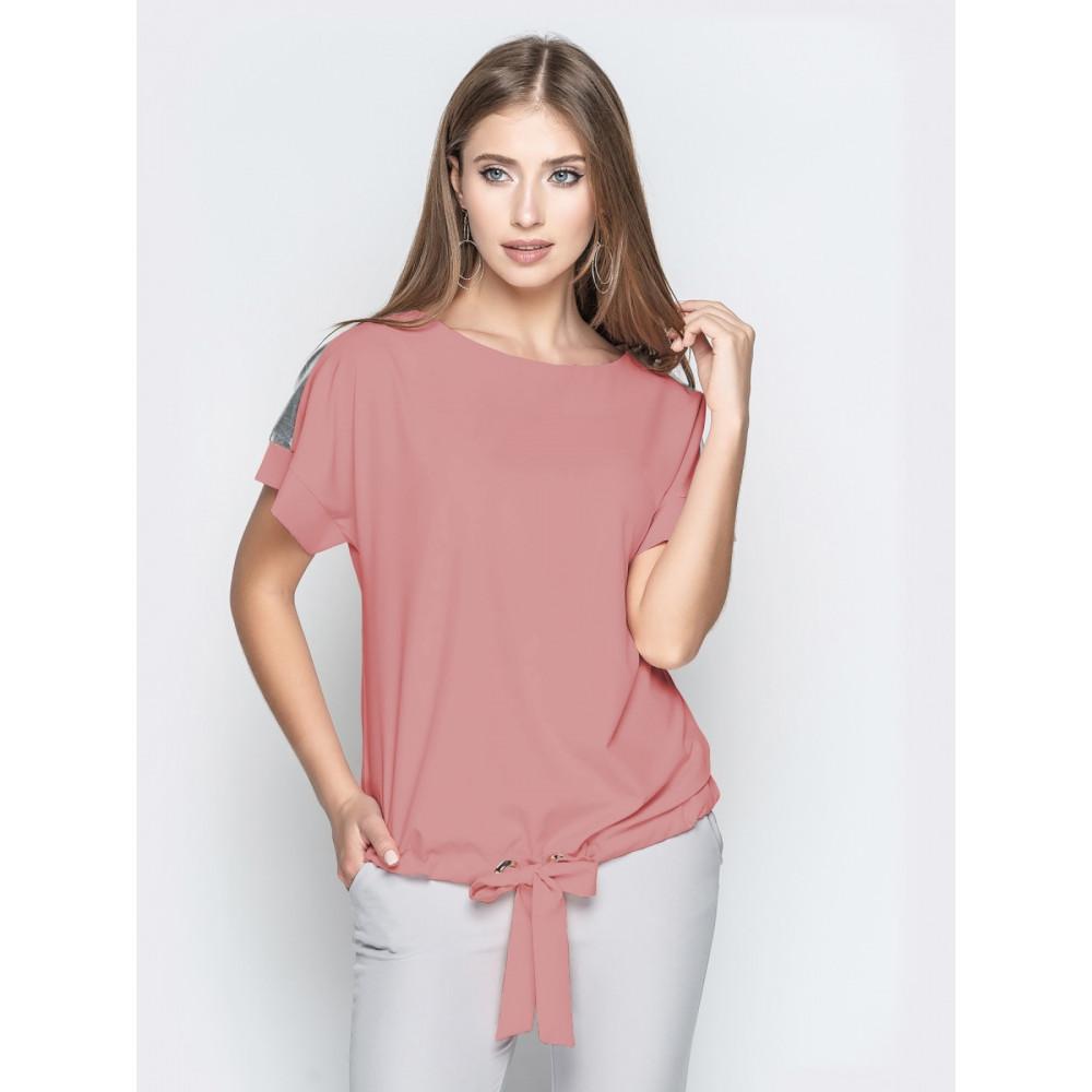Блузка с цельнокроеным рукавом с кулиской фото 1