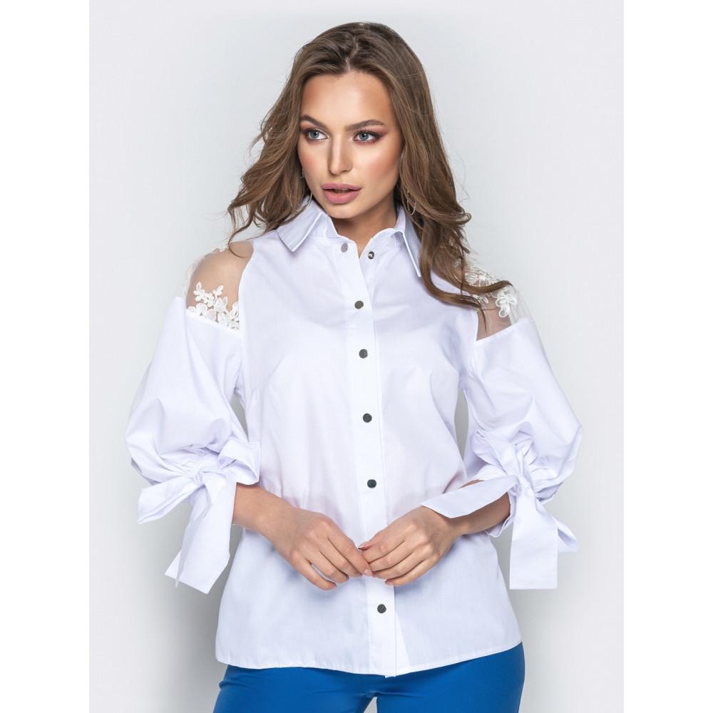 Блузка с объемными рукавами фото 1