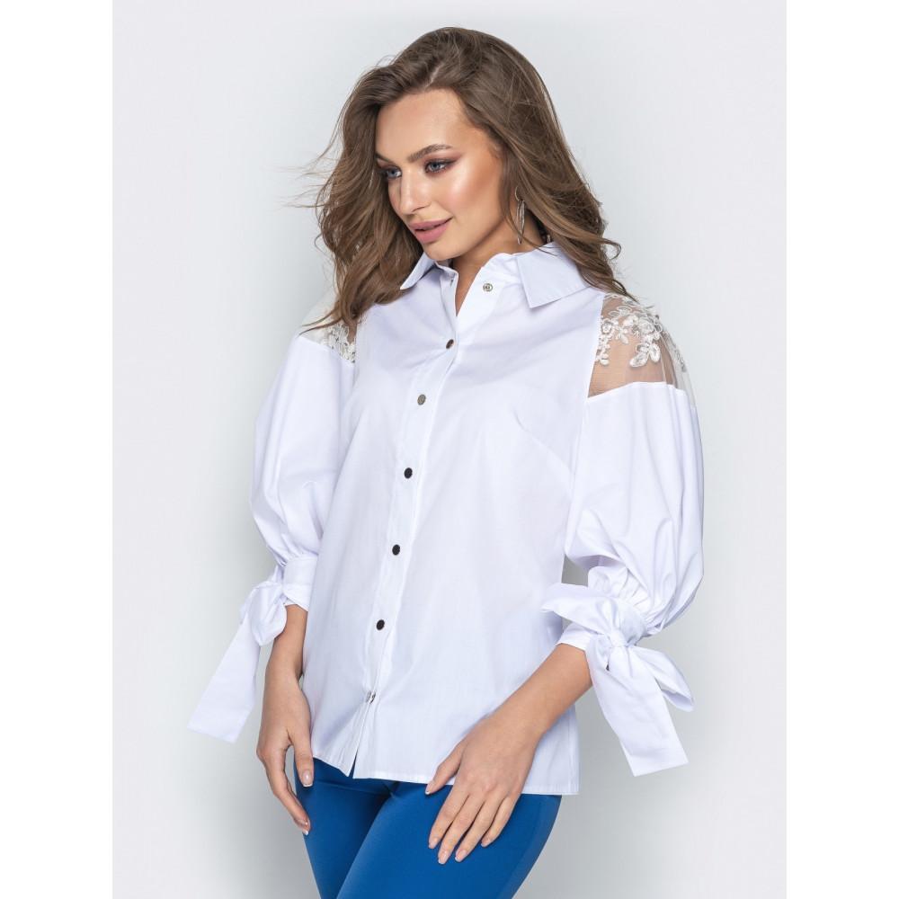 Блузка с объемными рукавами фото 2