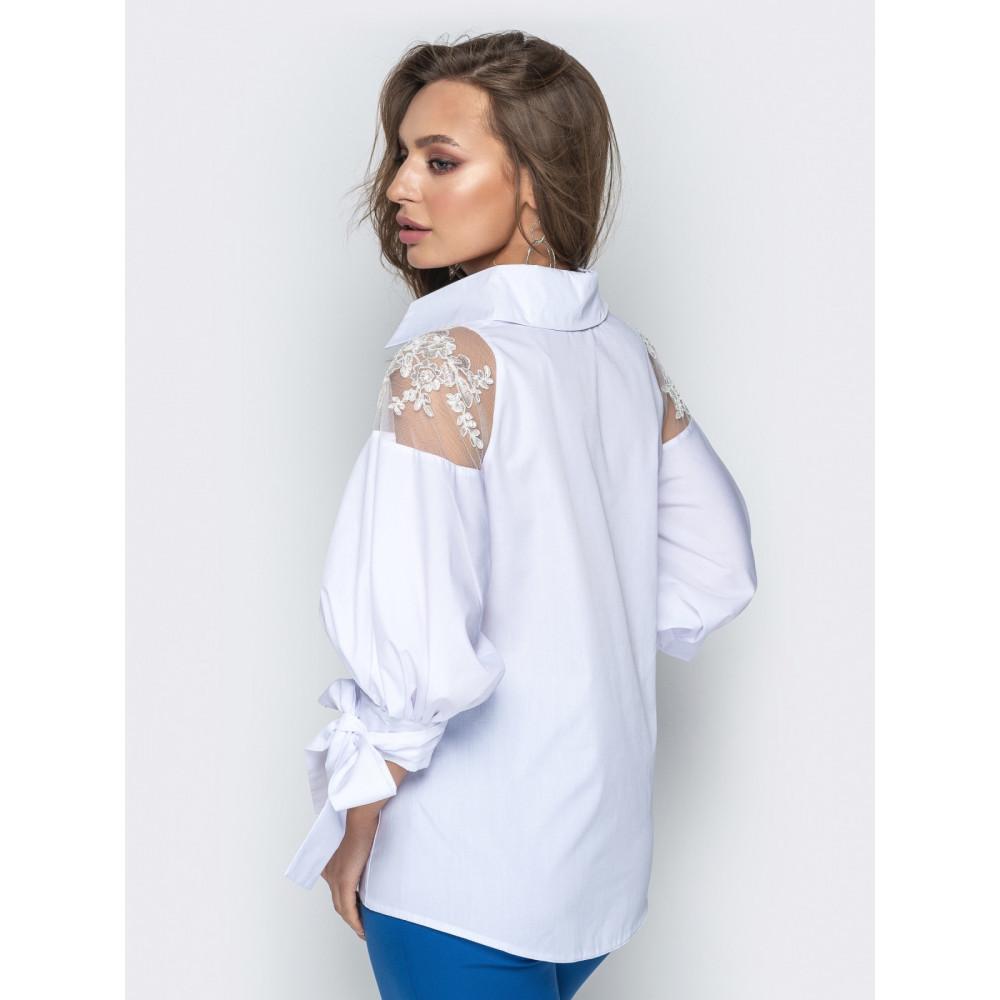 Блузка с объемными рукавами фото 3