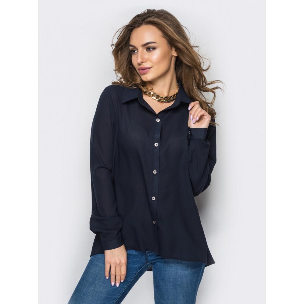 Блузка с удлинением по спинке фото 1