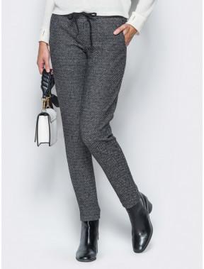 Удобные брюки из жаккарда с принтом