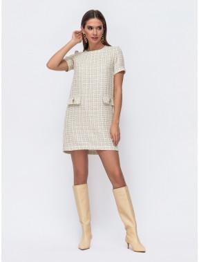 Елегантна пряма сукня з твіду