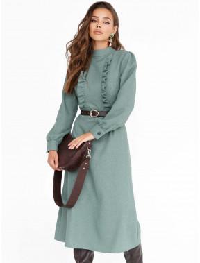 Зелена розкльошена сукня з кашеміру