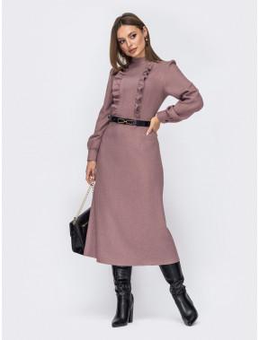 Тепла розкльошена сукня з кашеміру