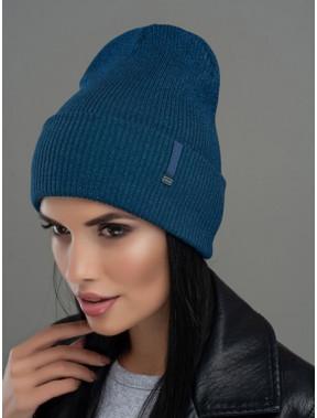 Модная шапка-лопата Юнона с люрексом