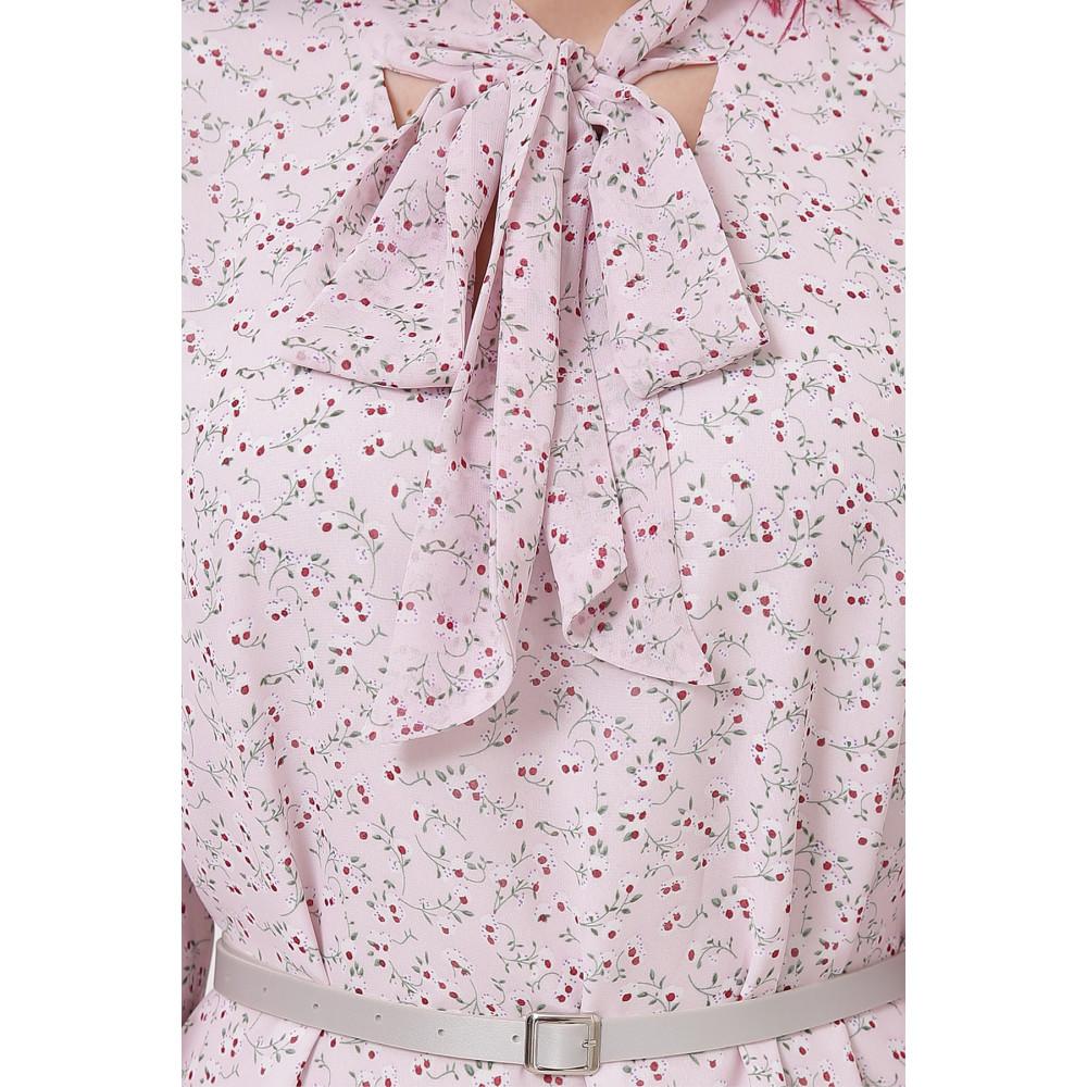 Воздушное платье с воротником-бантом Малика фото 6