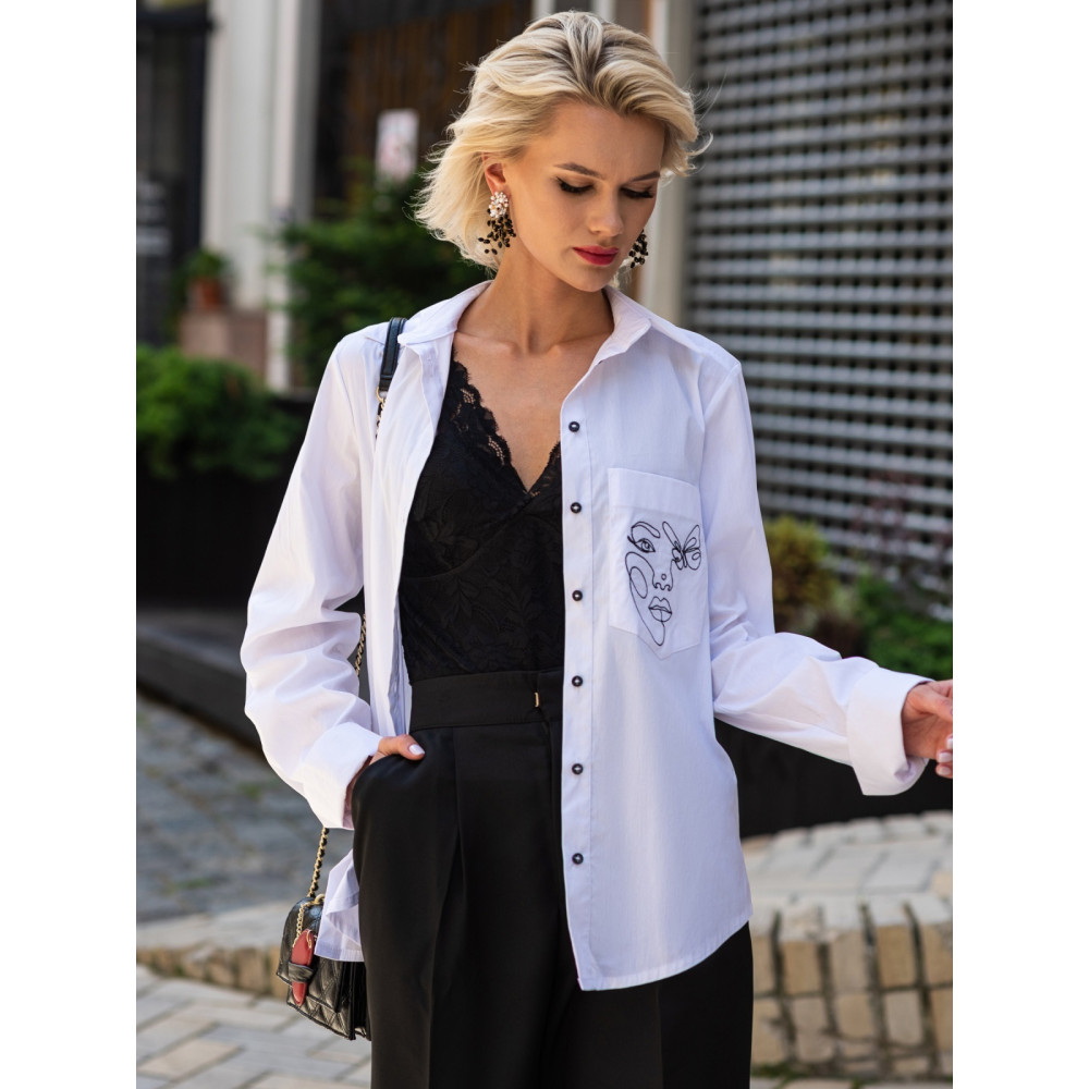 Рубашка с авторской вышивкой Рут фото 1