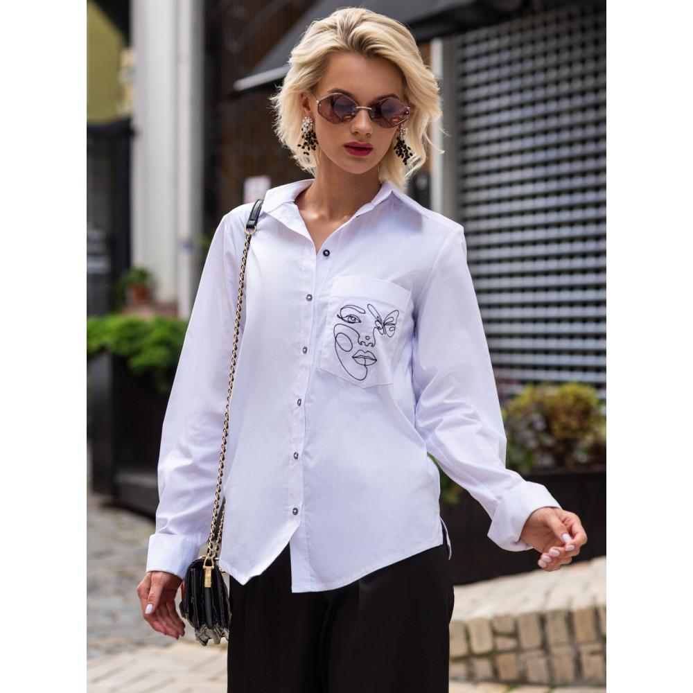 Рубашка с авторской вышивкой Рут фото 2