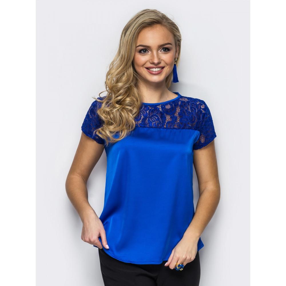 Блузка с кружевной кокеткой фото 1