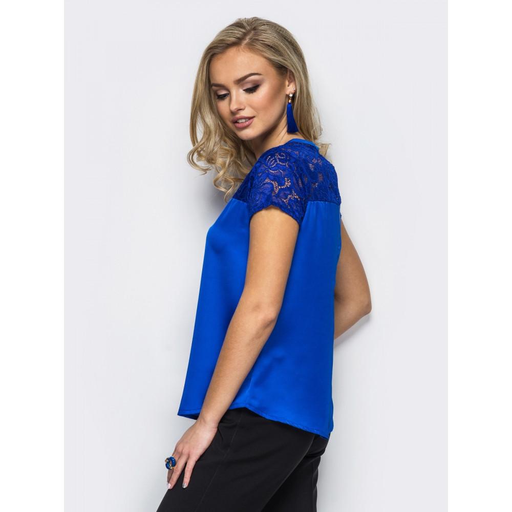 Блузка с кружевной кокеткой фото 2