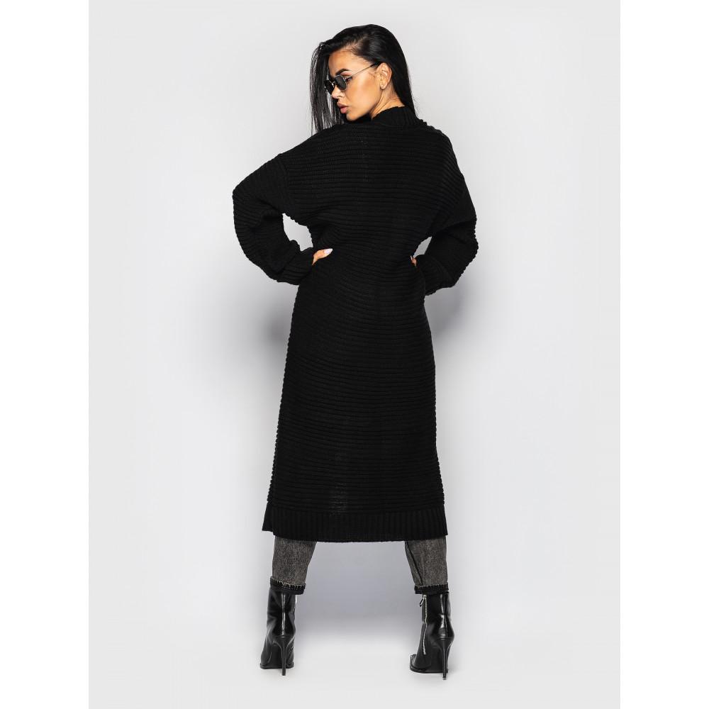 Длинный черный кардиган Carmen  фото 2