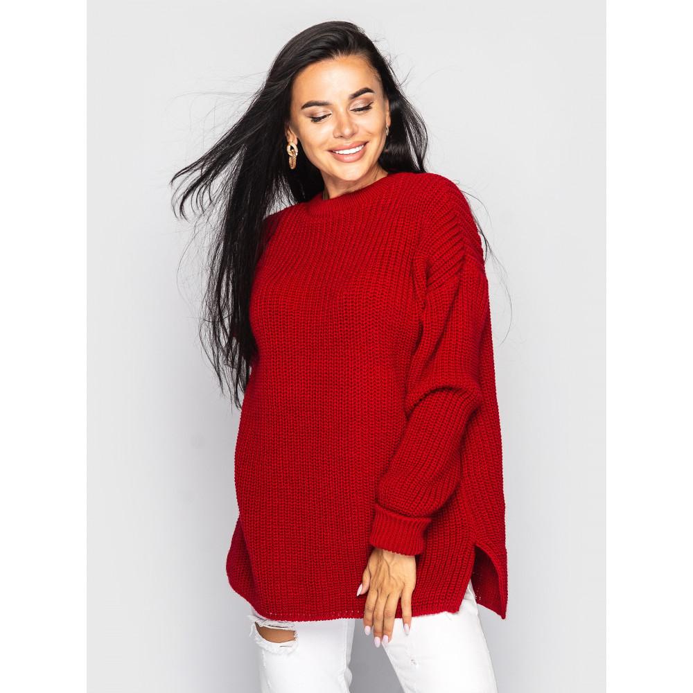 Красный свободный свитер Marta фото 1