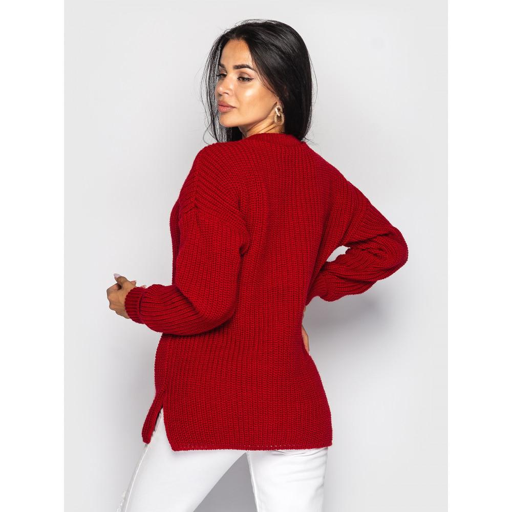 Красный свободный свитер Marta фото 2