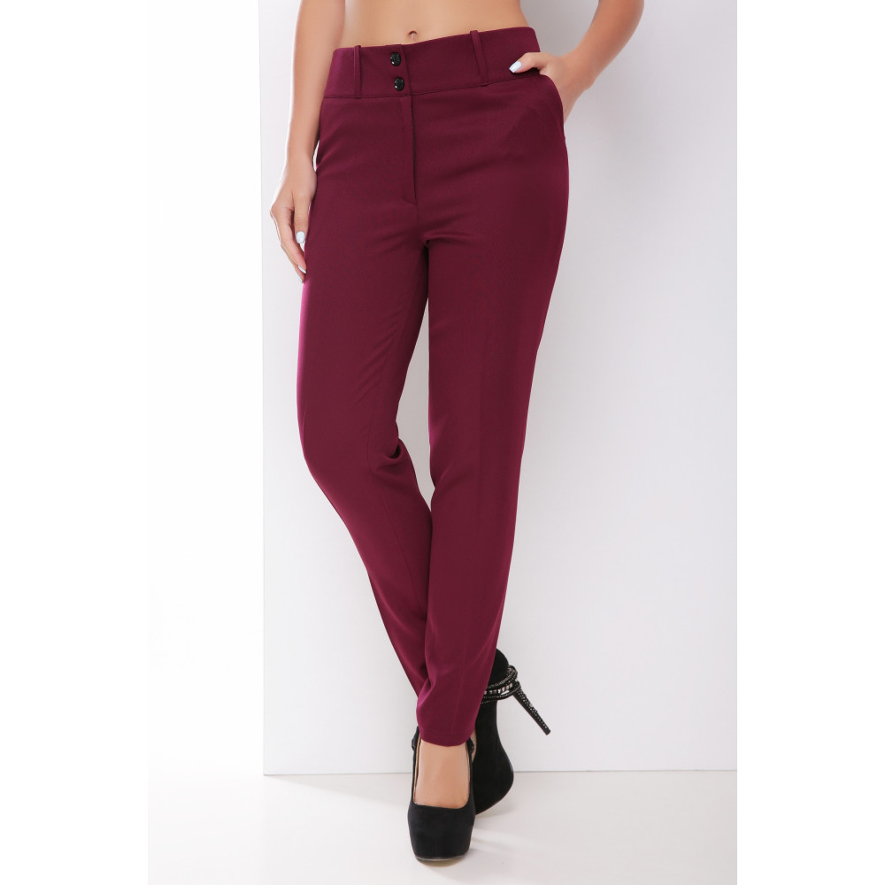 Классические однотонные женские брюки с карманами фото 1
