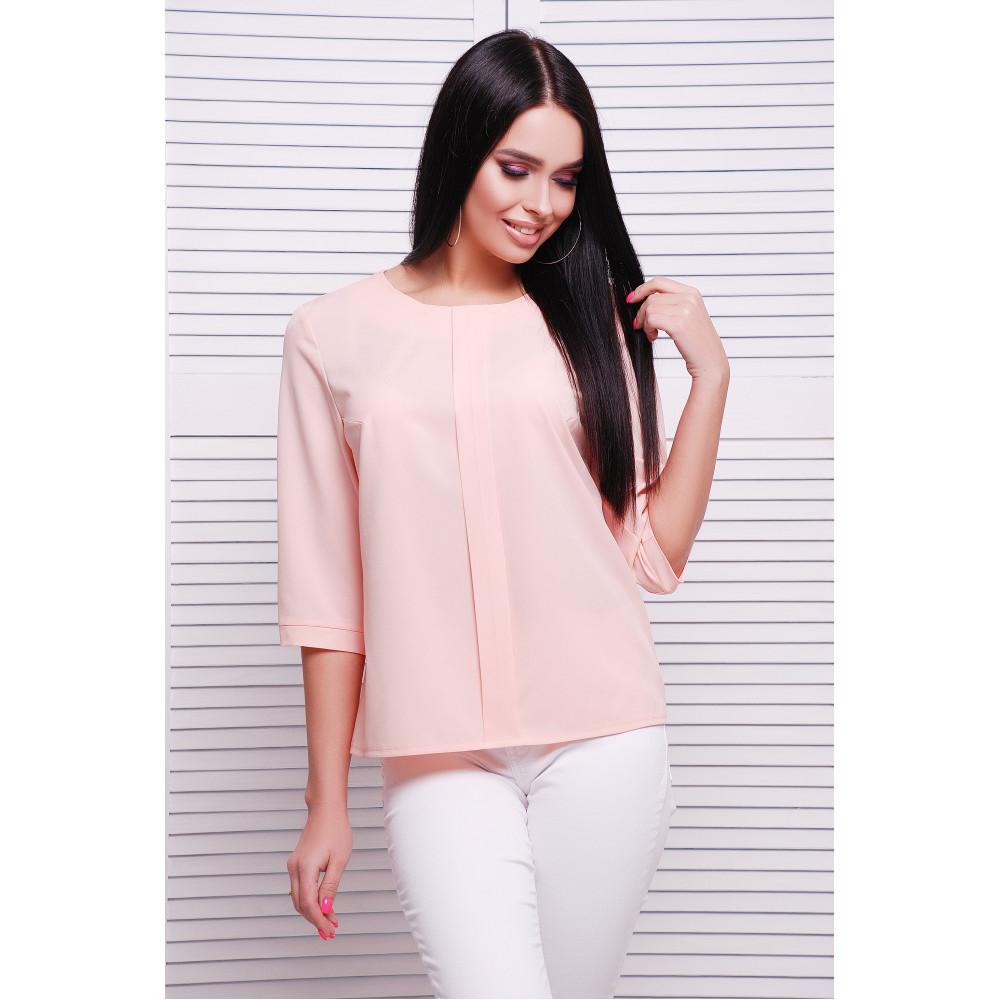 Нежная персиковая блузка Аманда фото 1