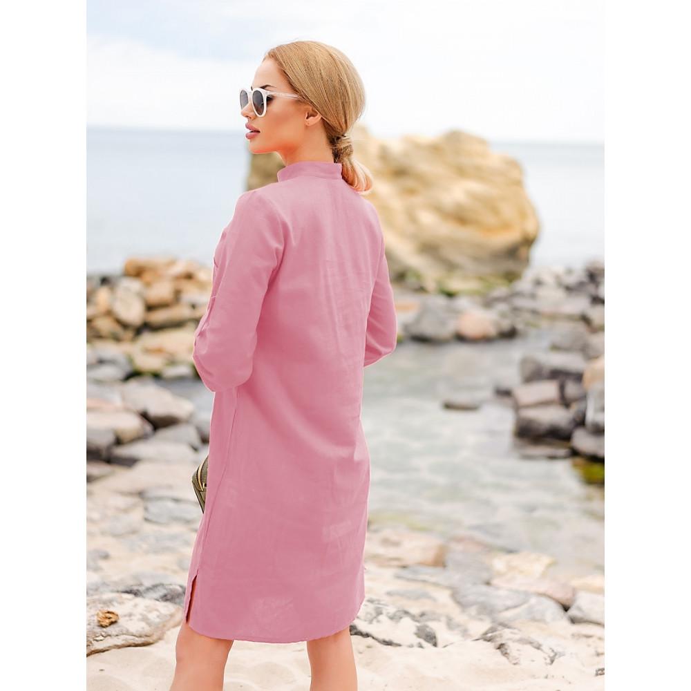 Красивое розовое платье-рубашка Мадейра фото 3