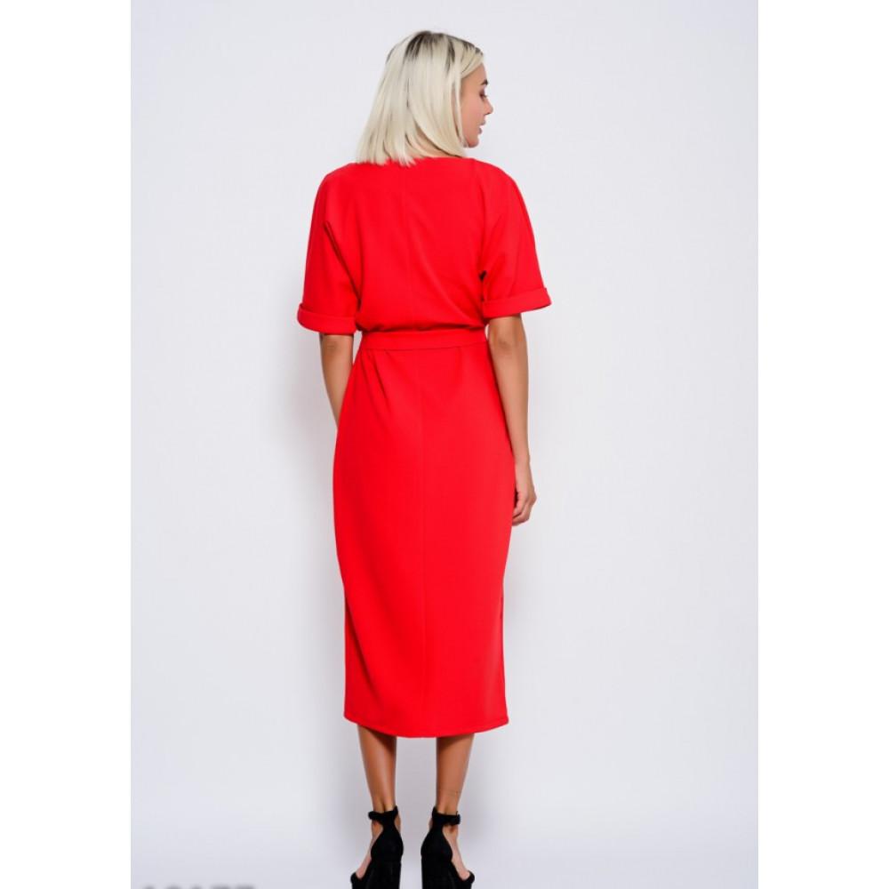 Красное платье-миди Рут фото 3