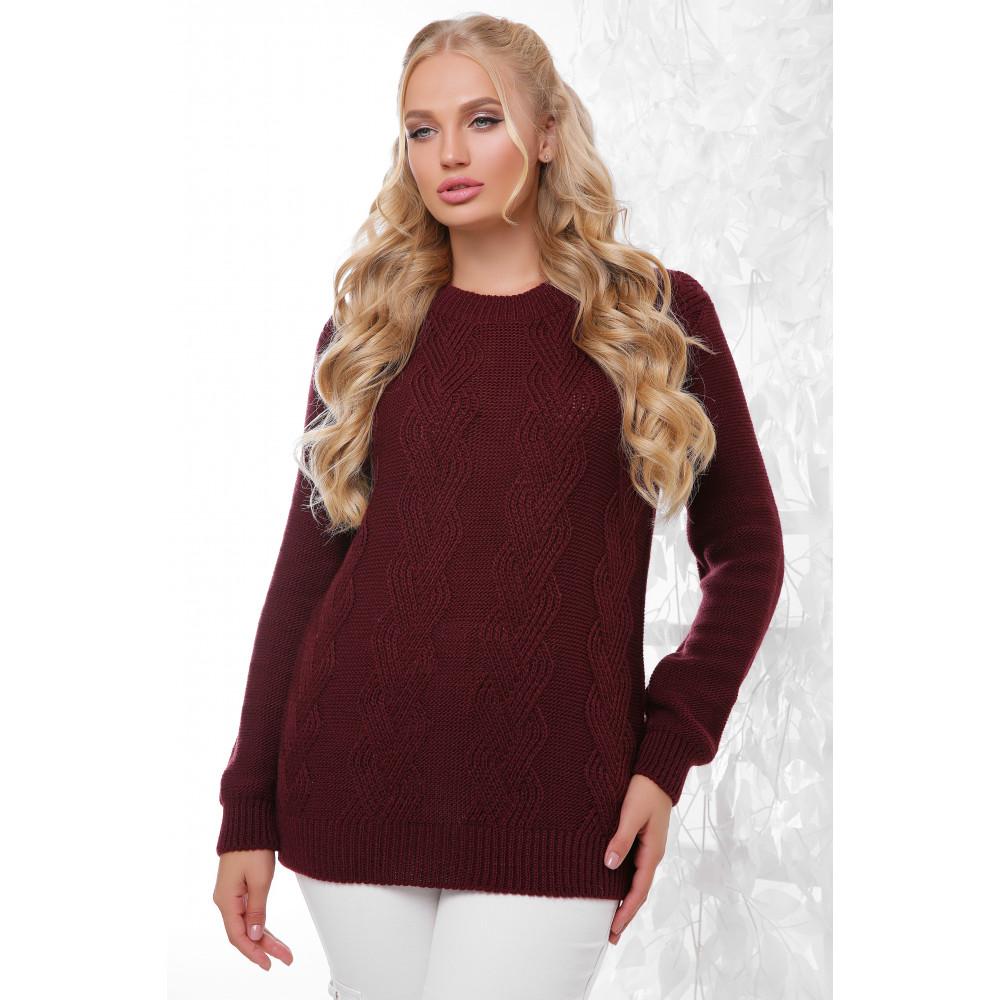 Бордовый свитер Эрика фото 1