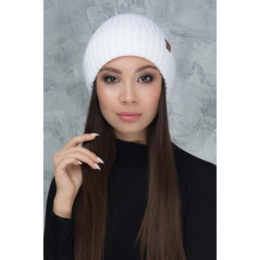 Белоснежная шапка на флисе Шейла S фото 1