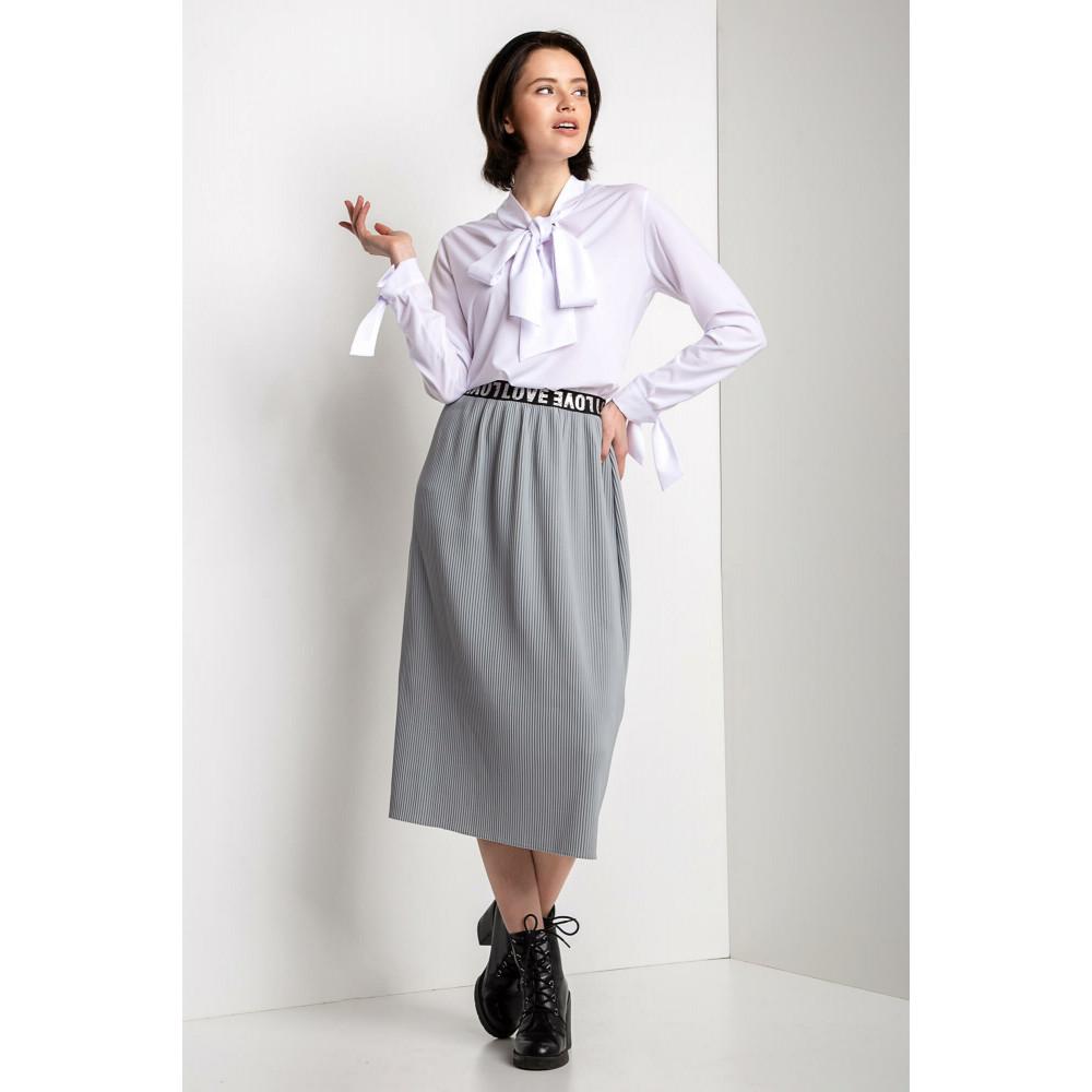 Белоснежная блуза с воротником-аскот Valeria фото 1