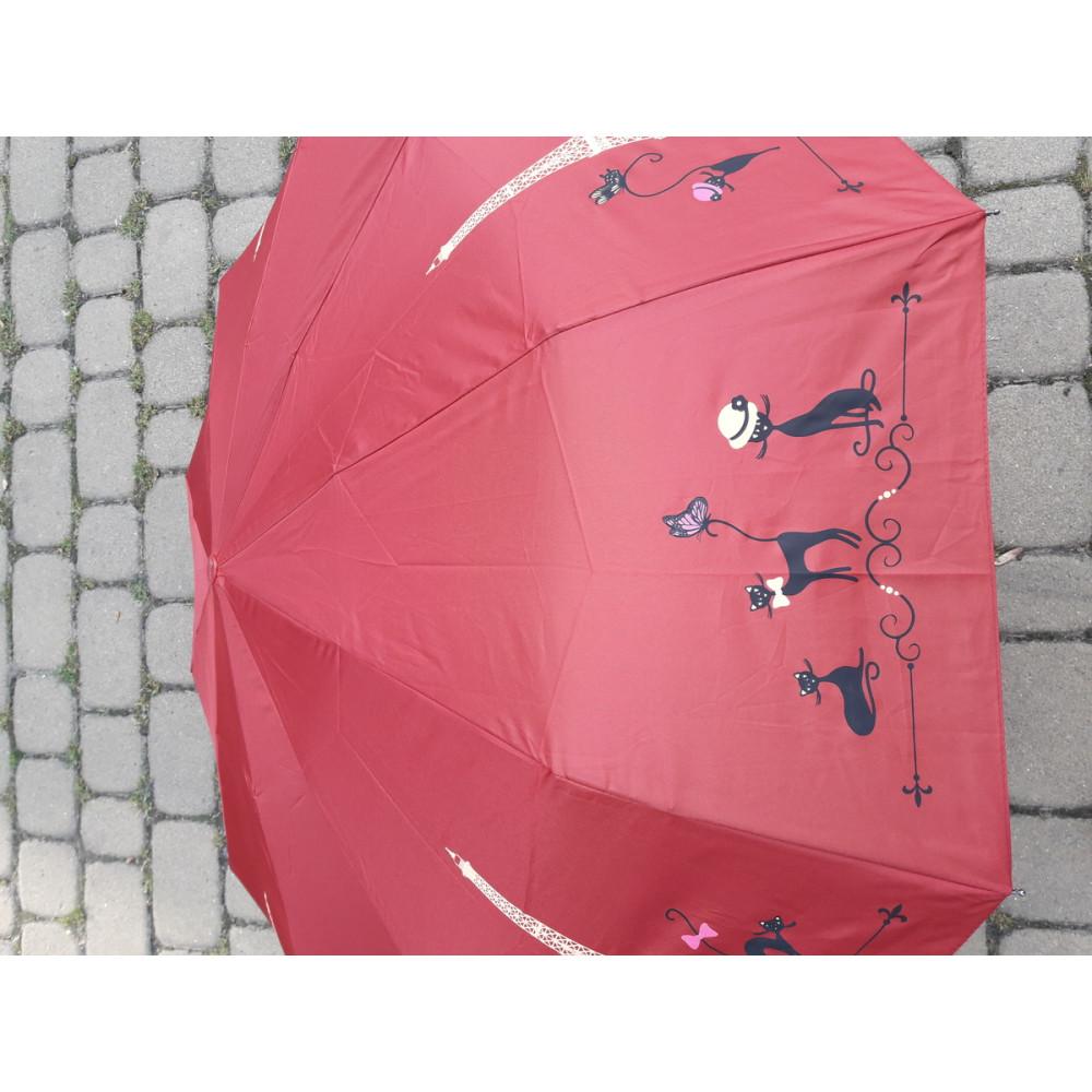 Красный зон автомат с рисунком в кошки фото 2