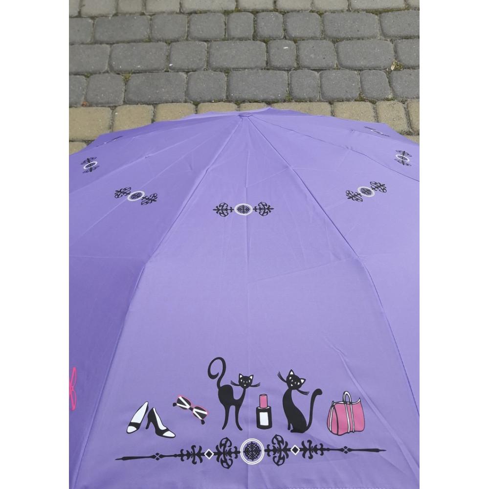 Надежный фиолетовый зонт-автомат фото 2