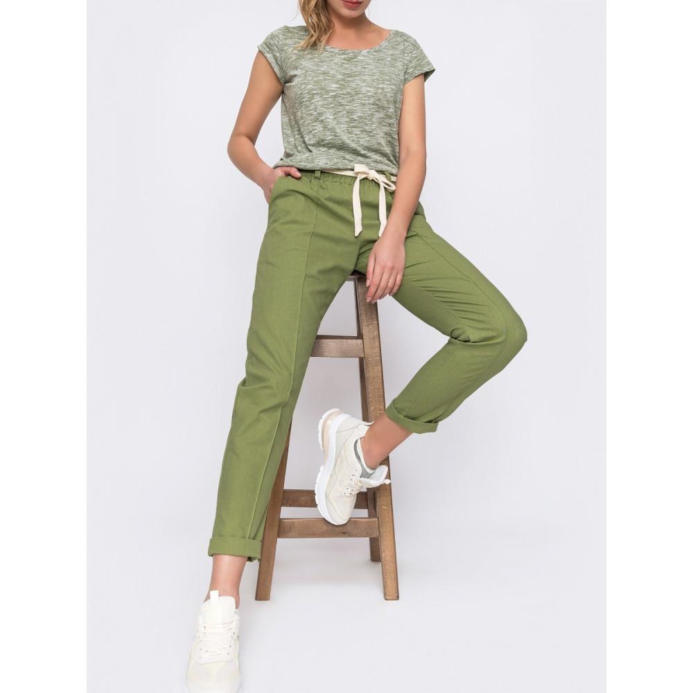 Льняные брюки с стрелками фото 1