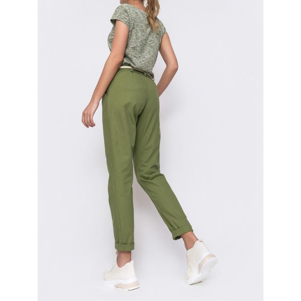 Льняные брюки с стрелками фото 2