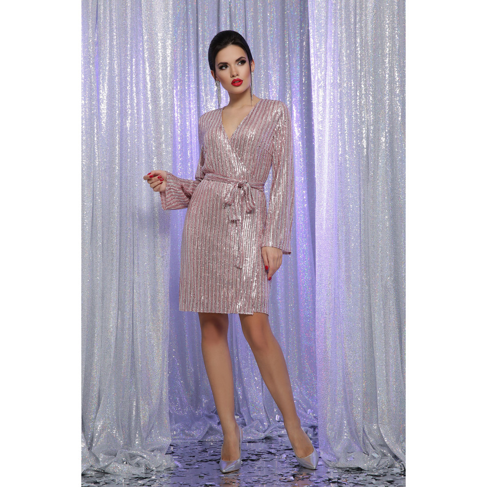 Коктейльное платье на запах в пайетки Земфира фото 2