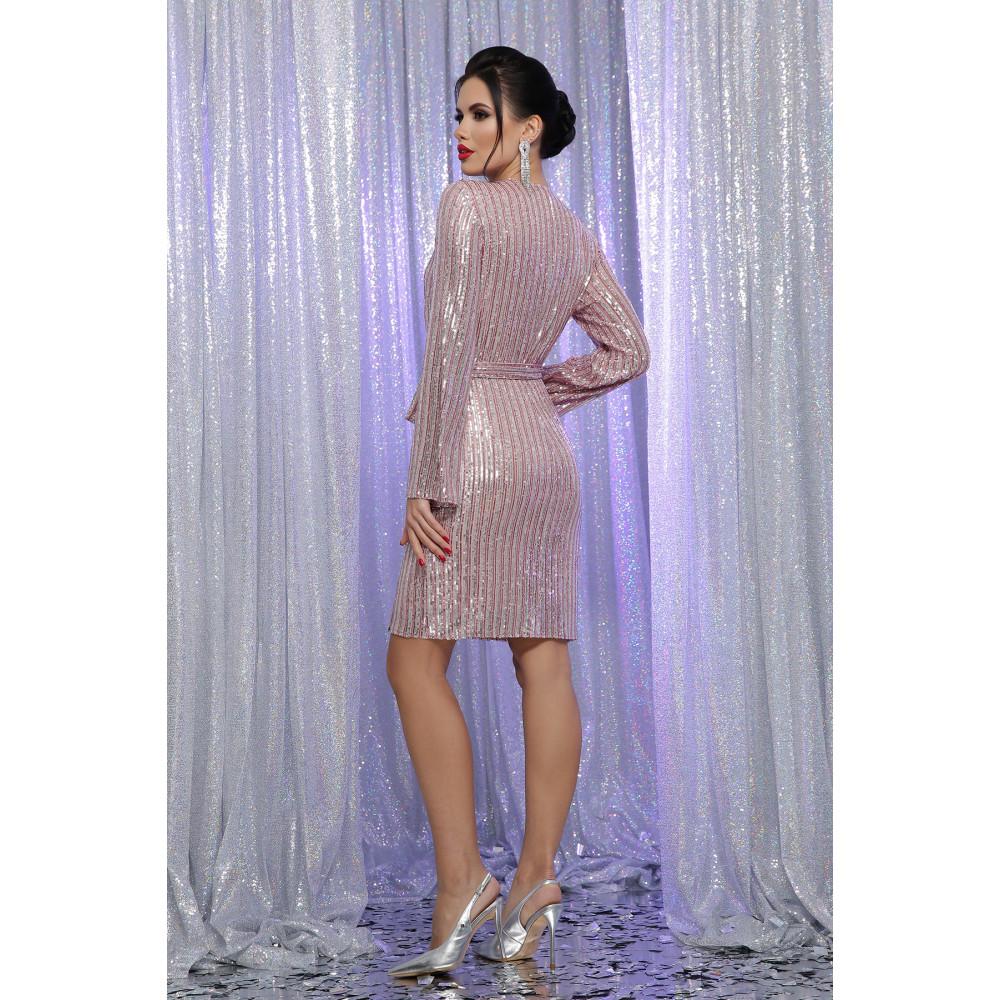 Коктейльное платье на запах в пайетки Земфира фото 4
