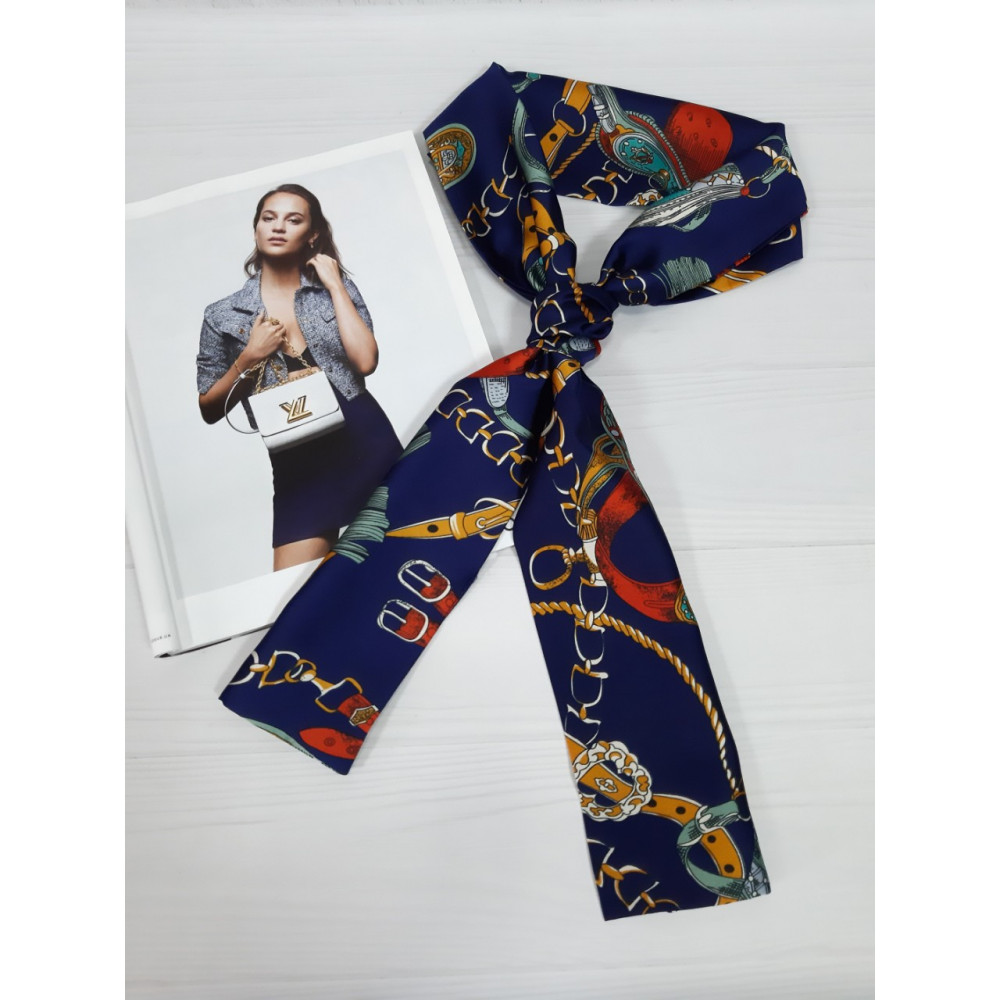 Модный шарф-галстук в цепи фото 5