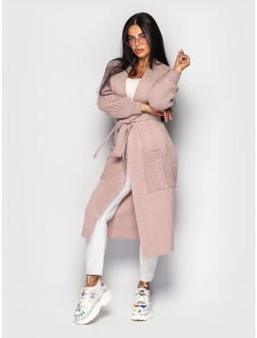 Розовый кардиган с карманами Rebecca