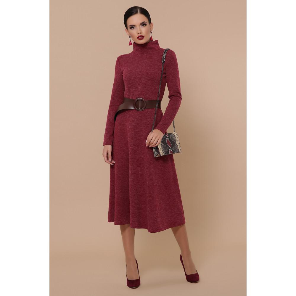 Бордовое уютное платье Ава фото 1