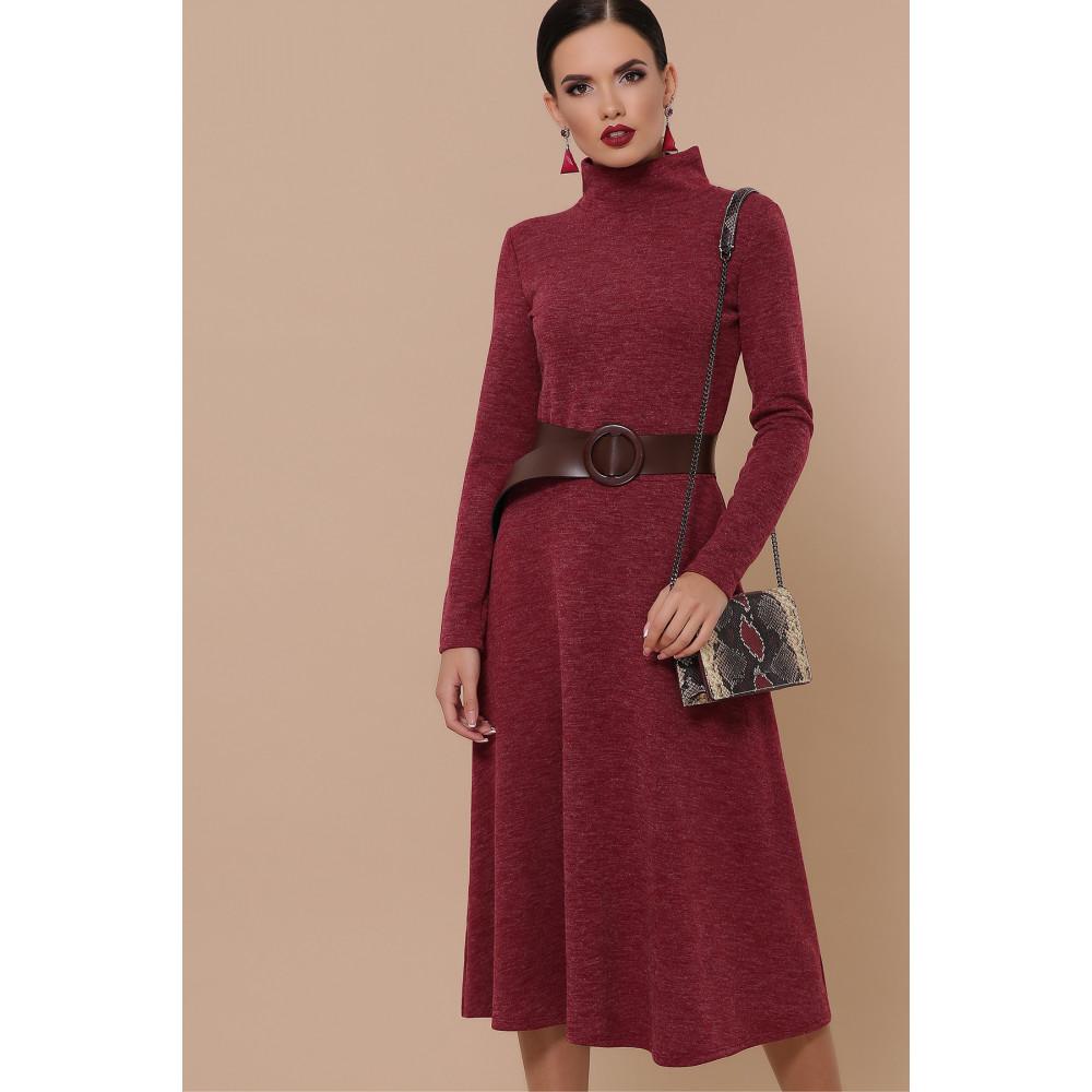 Бордовое уютное платье Ава фото 2