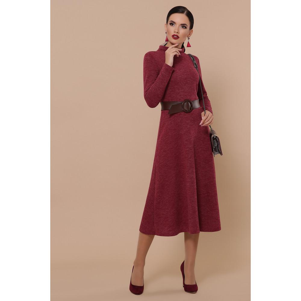 Бордовое уютное платье Ава фото 3