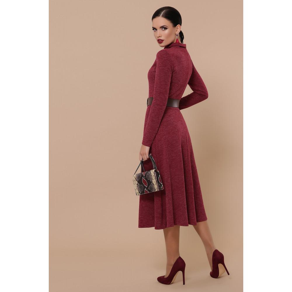 Бордовое уютное платье Ава фото 4