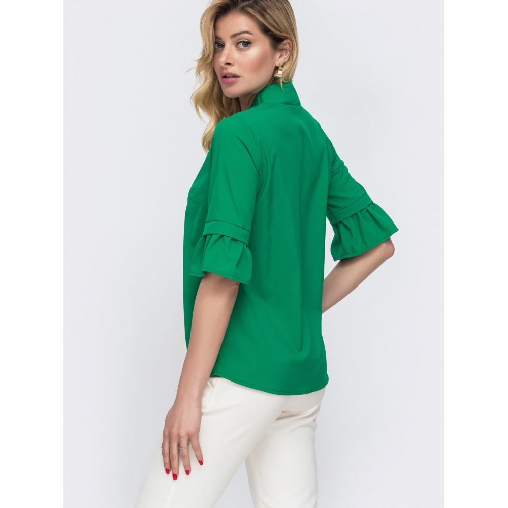 Зеленая блузка с рукавом 3/4 Мира фото 3