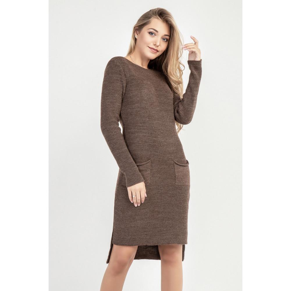 Вязаное платье с удлиненной спинкой фото 1