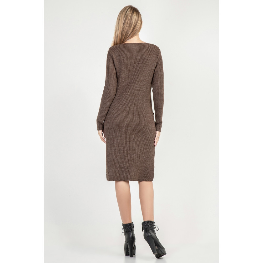 Вязаное платье с удлиненной спинкой фото 3