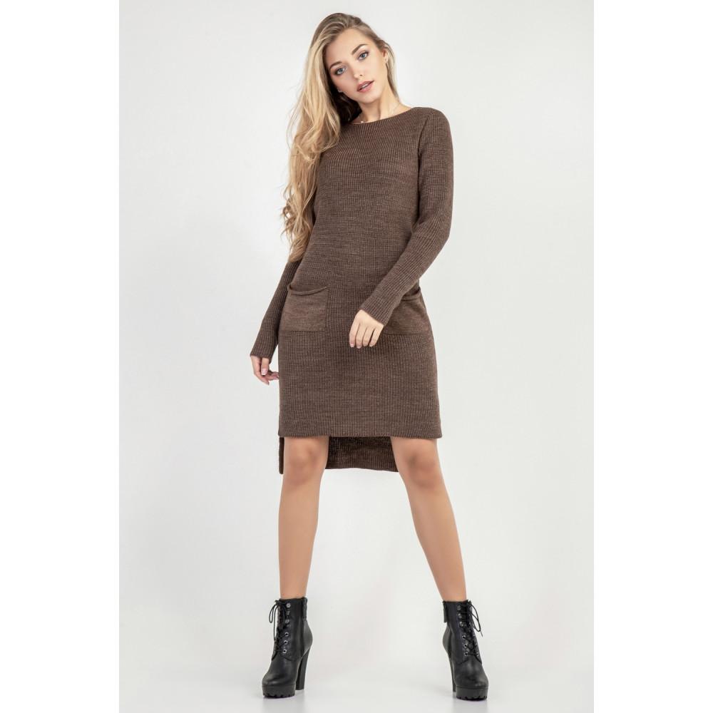 Вязаное платье с удлиненной спинкой фото 4