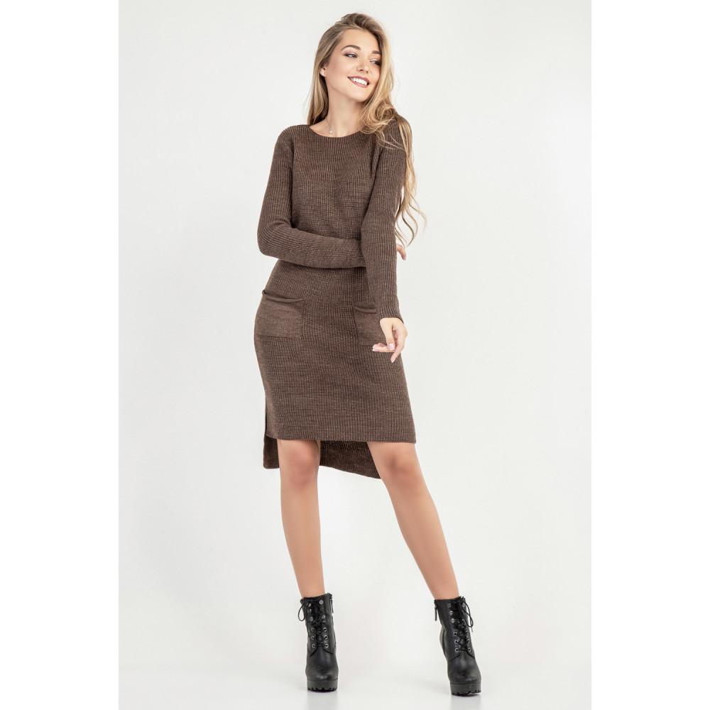 Вязаное платье с удлиненной спинкой фото 5