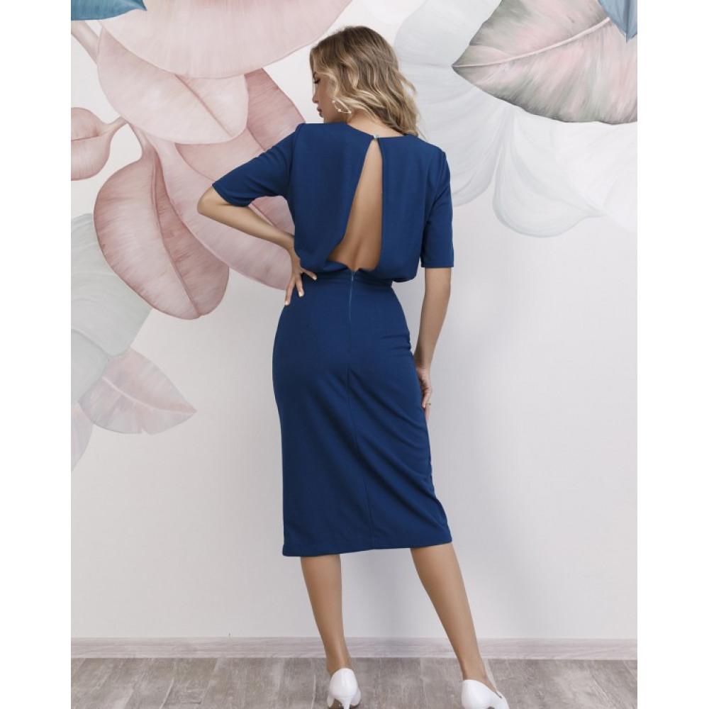 Коктейльное платье с вырезом на спинке фото 1