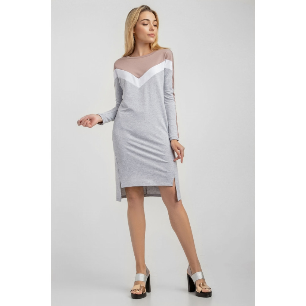 Комбинированное платье City фото 1